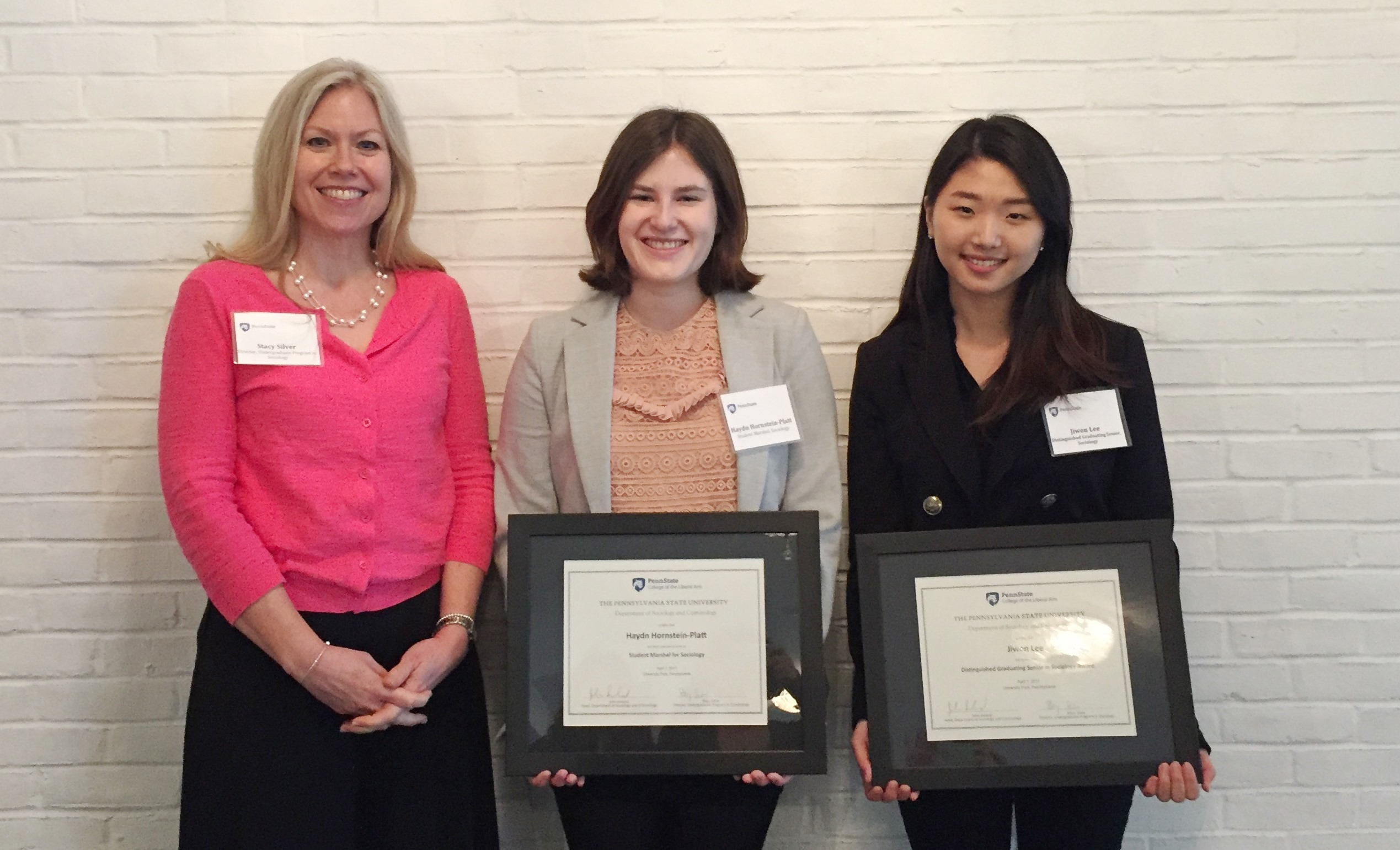 Alumni and Students Honored at 2017 Sociology and Criminology Award Ceremony