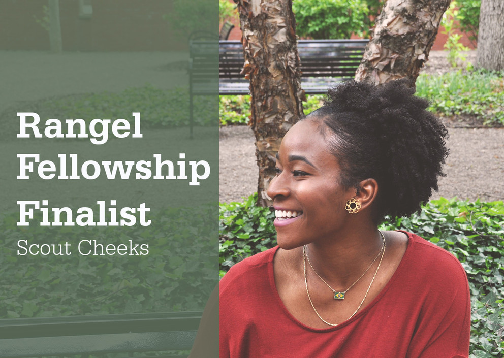 Criminology Major, Scout Cheeks, Named a Rangel Fellowship Finalist