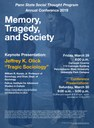 Memory, Tragedy, and Society - Social Thought Conference 2019