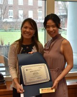 Hyejin Sung, sociology, receives Resilient Student Award for her phenomenal job at promoting diversity and multiculturalism on campus.
