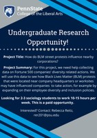 Undergraduate Research Opportunity!